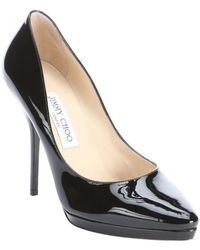 Jimmy Choo Black Patent Leather 'Laurie' Pumps - Lyst