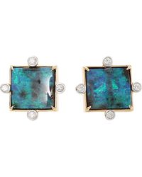 Pamela Huizenga - Boulder Opal Stud Earrings - Lyst