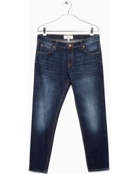Mango Cropped Slim-Fit Nancy Jeans - Lyst
