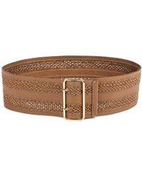 Linea Pelle Inset Braid Wide Waist Belt - Lyst