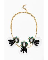 Adia Kibur Art Deco Crystal Necklace - Lyst