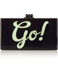 Edie Parker - Jean Go Glittered Acrylic Box Clutch - Lyst