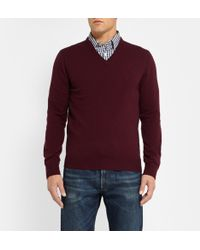 J.Crew Vneck Cashmere Sweater - Lyst
