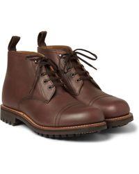 Grenson Ryan Four Eye Leather Boots - Lyst