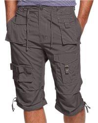 Sean John Classic Flight Cargo Shorts - Gray