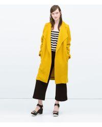 Zara Wrap Oversize Coat - Lyst