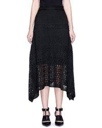 Proenza Schouler   Variegated Stripe Knit Midi Skirt   Lyst