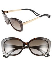 Dior Women'S 'Extase 2' 56Mm Retro Sunglasses - Olive/ Rose Gold - Lyst