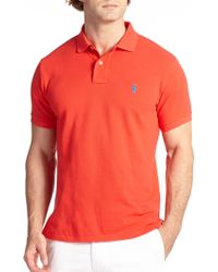 Polo Ralph Lauren Slim-Fit Cotton Mesh Polo red - Lyst