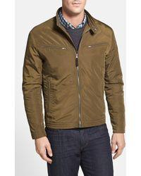 Cole Haan Packable Waterproof Moto Jacket, Green - Lyst