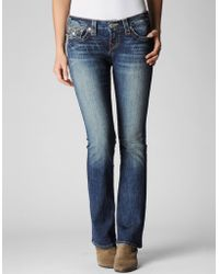 True Religion  Becky Petite Mid Rise Bootcut Jean - Lyst