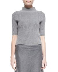 Theory Jodi Ribbed Knit Mock-neck Sweater - Lyst