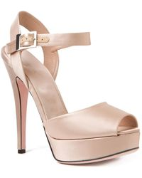 Giambattista Valli Open Toe Pumps - Lyst
