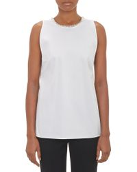 Thakoon Chainembellished Sleeveless Top - Lyst