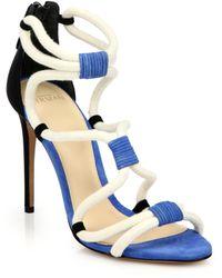 Alexandre Birman Suede & Rope Sandals - Lyst