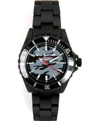 Blue & Cream Black Army Camouflauge Timepiece