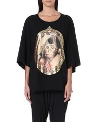 Vivienne Westwood Anglomania Baby Monkey Cotton Jersey Top Black - Lyst