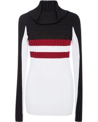 Blanc and Noir - Futurity Sangria Colorblock Jumper - Lyst
