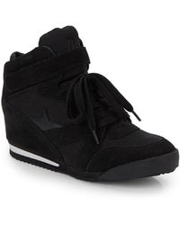 Ash Jazz Leather Wedge Sneakers - Lyst