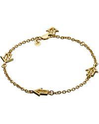 Jen Kao Gold Arrow Charm Bracelet - Lyst