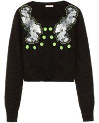 Emma Cook | Appliquéd Angora-blend Sweater | Lyst