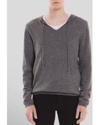 Sandro West Wool-cashmere Hoodie - Lyst