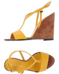 Vicini Yellow Sandals - Lyst