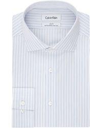 Calvin Klein Slim Fit Stripe Dress Shirt - Lyst