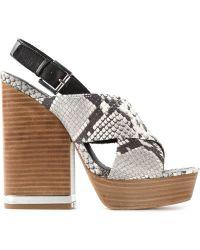 Ash Snakeskin Sandals - Lyst