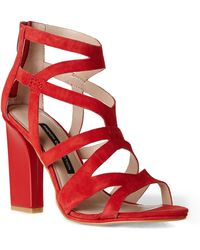 French Connection Red Isla Sandals - Lyst
