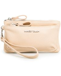 Mango Pebbled Double Purse - Pink