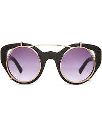 Erdem Edm54 Cat-Eye Clip-On Sunglasses - For Women black - Lyst