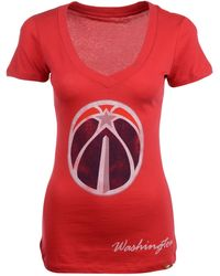 Sportiqe Women's Short-sleeve Washington Wizards V-neck T-shirt - Red