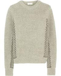 3.1 Phillip Lim Wool And Angora-Blend Sweater - Lyst