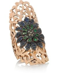 Ileana Makri Shield 18-Karat Rose Gold Multi-Stone Ring - Pink