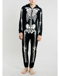 TOPMAN Halloween Black Skeleton Onesie