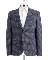 Original Penguin Patterned Two Button Blazer - Lyst