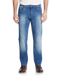 Robert Graham Slim-Straight Stretch Jeans - Lyst