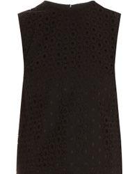 Victoria Beckham Cropped Lace Vest - Lyst