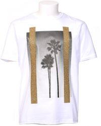 "Palm Angels | T-shirt Bianca Stampa ""palms"" 