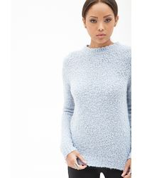 Forever 21 Textured Knit Sweater - Lyst
