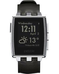 Pebble Stainless Steel Smart Watch Matte Black