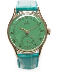 CMT Fine Watch And Jewelry Advisors Green Roman Painted Face Vintage Omega Watch