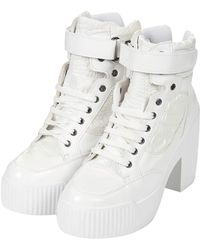 Topshop Womens Hazard Lace Up Trainers White - Lyst