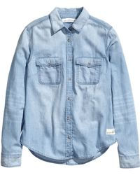 H&M Denim Shirt - Lyst