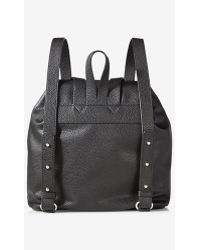 Express Black Backpack With Tassels