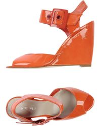 Nine West Sandals orange - Lyst