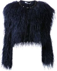 Givenchy Ostrich Feather Jacket - Blue