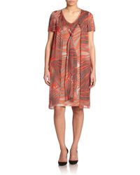 Stizzoli Silk Jersey Printed Dress - Lyst