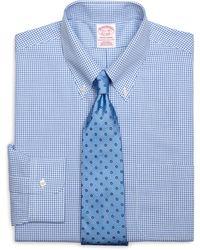 Brooks Brothers Non-Iron Madison Fit Small Frame Windowpane Dress Shirt - Lyst